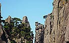 Peaks silhouetted by the sky look more forceful and spectacular.This comely scene is rarely seen except in Mt. Huangshan, Anhui.