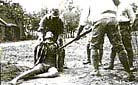 The Japanese soldiers used all the cruel methods from beheading, to shot, to burying alive and to burning. They even carried out killing competition.