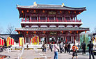 The exquisite Yu Yuan Gate of the Tang Paradise in Xi'an, also known as the West Gate.