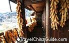 A good harvest of corns, Qingman Miao Village