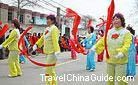 The Yangko (Yangge) Dance performance at the Spring Festival