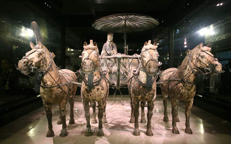 Xi'an Terracotta Army Pictures: Bronze Chariot  Xi'an Terra...