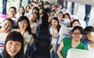 Our Staff on the Way to Yangling Mausoleum of Han Dynasty