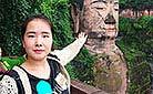 Emily at Leshan Giant Buddha Scenic Area