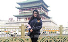 Angela in front of Xi'an Bell Tower