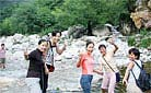 Our staff enjoys playing in the water. Summer outing in 2004