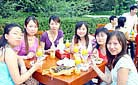 Our staff is enjoying the picnic - Summer outing in 2006