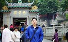 Our staff Molly at the Matsu Temple, Macau - Staff training in 2005