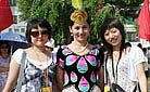 Our staff with a Kirgiz lady in Xinjiang - Staff training in 2009