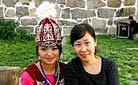Our staff with a Kazak girl in Nalati Grassland, Ili- Staff training in 2010