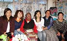A local Tibetan family visit in Lhasa - Staff training in 2006
