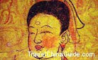 The skillful painter caught the spirit of this princess whose facial features were clearly showed on the fresco.