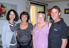Our customers Mr. Michael William Kennedy, Ms. Annette Maree Kennedy & Ms. Sally Longstaff with our Travel Consultant Nicole
