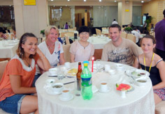 Our travel consultant Kelly met her clients in Xian