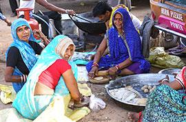 Local market in India