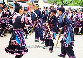 Miao minority people's festival celebration