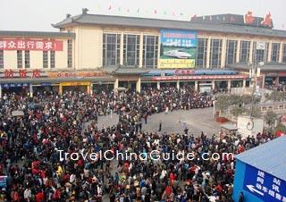 Xian Railway Station during Chinese New Year Rush