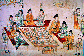 The mural in Shaanxi History Museum