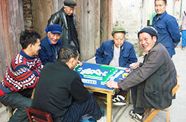 Local people in Xingping Town