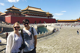 Our guests at the Forbidden City