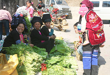 Local market in Yunnan