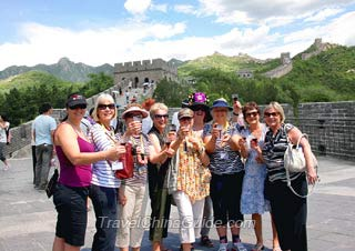 Our group at the Great Wall of China