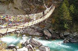 Suspension bridge, Langtang