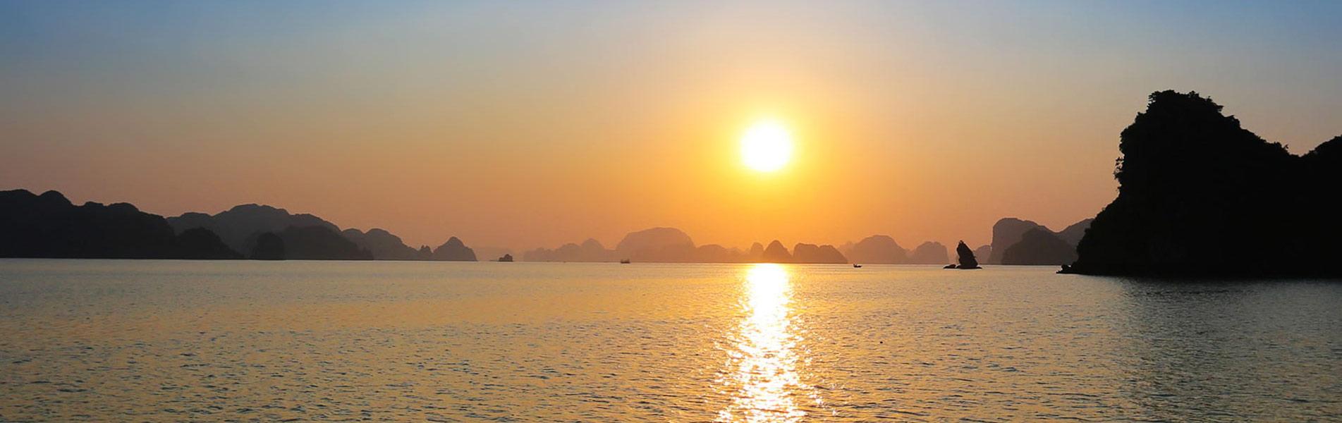 Halong Bay at sunset