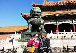Our clients at the Forbidden City, Beijing