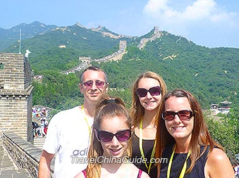 Our clients on the Great Wall, Beijing