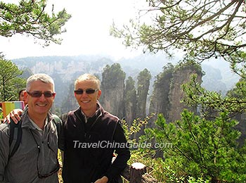 Our guests visiting Zhangjiajie National Forest Park
