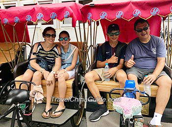 Rickshaw riding during Hutong tour