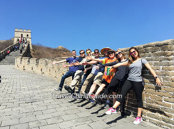Our clients at Mutianyu Great Wall