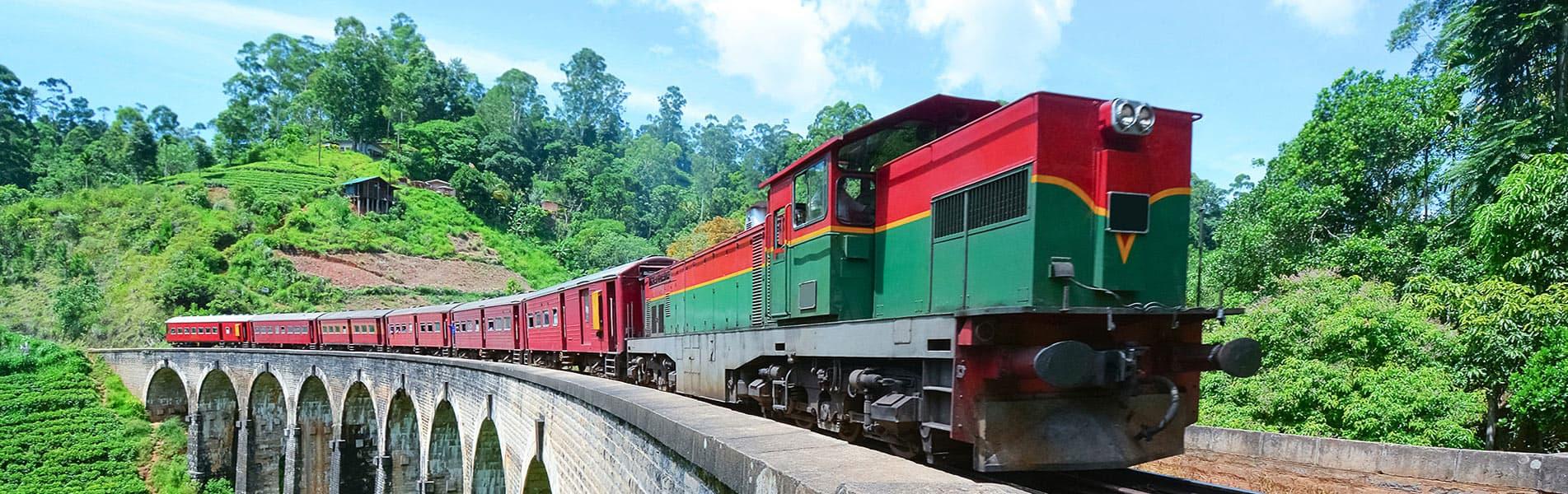 Rail road in Sri Lanka
