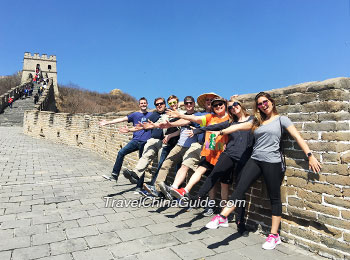 Our happy clients at Mutianyu Great Wall