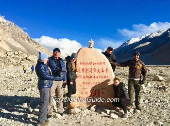 Our clients at the Everest Base Camp