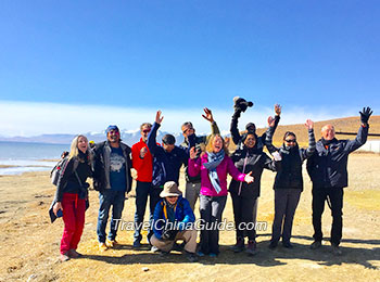 Our clients celebrating at Mount Kailash