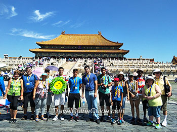 Our group at the Forbidden City