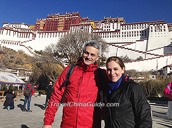 Our clients at Potala Palace