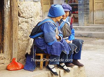 Naxi minority people in Baisha Village