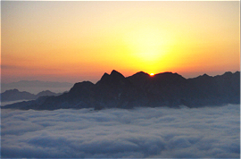 Sunrise at Mt. Huashan
