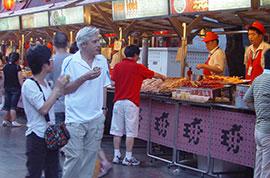 A food street in Beijing