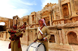 Local people in Jerash