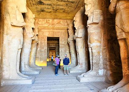 Eight 10-meter Ramses II Statues of Abu Simbel Temple