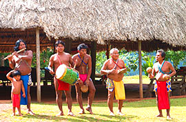Local Indians in Embera Village
