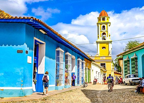 Colorful buildings in Trinidad