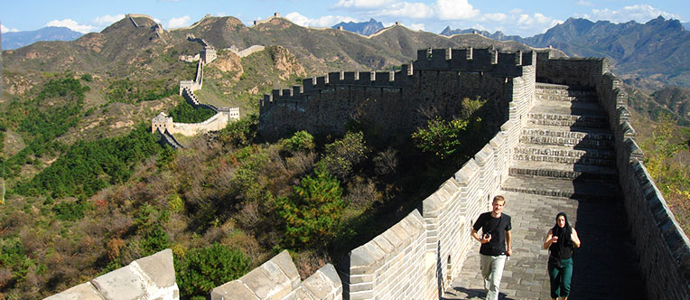 Hiking on the Great Wall is an unique experience of a lifetime