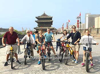 Cycling on the City Wall of Xian