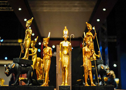 The exhibitions in Egyptian Museum