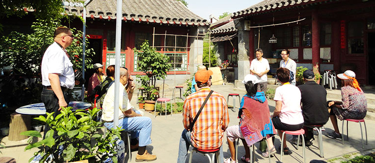 Interact with the local people in a traditional family courtyard